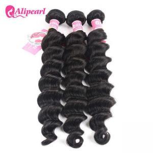 Best Loose Deep Wave Real Brazilian Hair Bundles , Curly Human Hair Weave wholesale