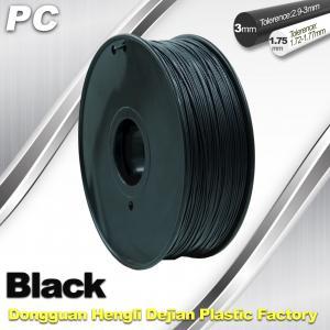 Cheap High Transparent 1.75mm / 3.0mm 3D Printer Filament , PC Filament temperature for sale