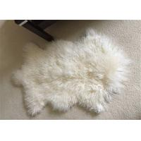 Best Mongolian Sheepskin Rug  Genuine Wool Throw Snow White Area Floor Real Wool Pelt wholesale