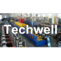 Best High Quality PU Foam Rolling Door Slat Roll Forming Machine With Flying Saw Tracking Cut wholesale