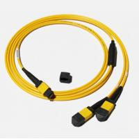Best MPO-MPO Low insertion loss,high speed network,Yellow/Aqua color  fiber optic patch cord wholesale