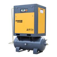 Best China Airhorse portable combine screw air compressor with 300/500 liter air tank in 11KW/15HP wholesale