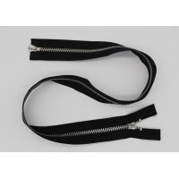 Best Black 5 Inch Non - Lock Sliders Two Way Metal Zip For Coveralls / Traveling Bag wholesale