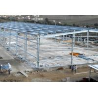 China Hot - Dipped Galvanized Steel Frame For Garage With Colored Steel Roof /  Wall on sale