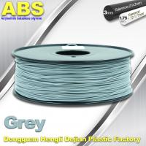 Best Grey  ABS 3D Printer Filament 3mm / 1.75mm 1.0 Kg / Roll Filament wholesale