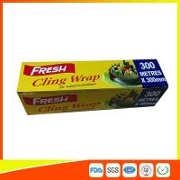 Best Soft Heat Resistant PE Catering Cling Film , Cooking Biodegradable Cling Wrap wholesale