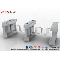 Best Gym Swing Barrier Gate Electronic Stainless Steel Turnstile Double Swing IP 54 LED Indicator wholesale