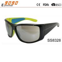 2017 new style sports sunglasses ,made of plastic, UV 400 protection lens