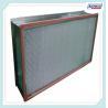 Cheap 300 Degree High Temperture Aluminum Separator Hepa Filter For Clean Rooms wholesale