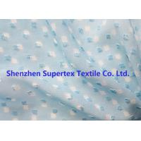 Best Blue Color GGT Jacquard Swiss Dot Polyester Chiffon 2400T 75D wholesale