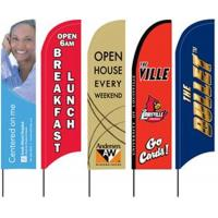 Cheap Custom Beach Feather Flags Banner Outdoor With Fiberglass Pole for sale