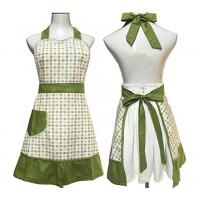 China Lovely Retro Country Cute Aprons With Pockets Waitress Embroidered Pastoral Style on sale
