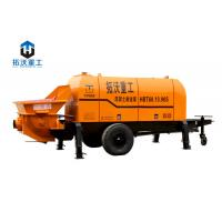 Best HBT6016 Trailer Mounted Electric Concrete Pump Compact Structure Small Wheel Design wholesale
