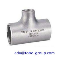 """Best seamless Stainless Steel Tee , single slit pipe wall thickness 1 / 2 """" NPS Sch5S to 24""""OD x30mm wholesale"""
