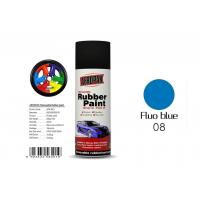 Best Fluo Blue Color Removable Rubber Spray Paint , Peelable Car Paint Grade 2 Adhesion wholesale