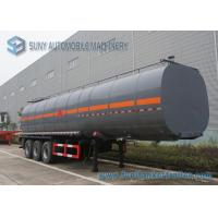 Quality Carbon Steel container semi trailer 45000L 3 Axle Ellipse Shape wholesale