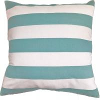 Best Green Stripe Printed Pillow Cushion Covers , Decorative Pillow Covers wholesale