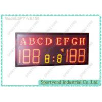 China High School Sports Electronic Volleyball Scoreboard / Table Tennis Score Boards with Team Name and Red LED on sale