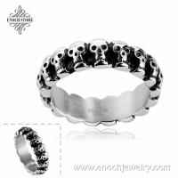 Best Exquisite Mixed Styles Stainless Steel Different Sizes Skull Ring Design wholesale