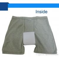 Cheap Cotton Adult Washable Incontinence Briefs With Pad For Men for sale