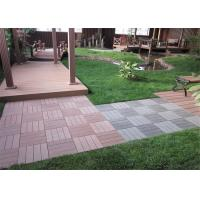 Best Anti - Slipping Interlocking Wood plastic Composite Deck Tiles Outdoor 300 * 300mm wholesale