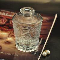 Best 150 ml Reed diffuser glass aroma bottle with emboss pattern for air freshener wholesale