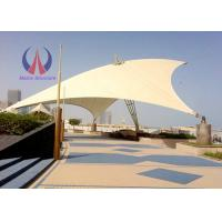 Best Weather Proof Tensile Fabric Structures Fabric Roofing Systems Long Span Steel Rope Stressed wholesale