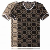 China New Arrival Versace M- XXL Head round high-grade pure cotton round collar short T-shirts on sale