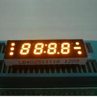 Best 0.25 Inch Yellow Four Digit 7 Segment LED Clock Display , Small Current Drive wholesale