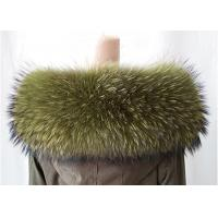 Cheap Extra Large Raccoon Furry Necks Collars ,  Warm Dyed Winter Coat Replacement Fur Collar  for sale