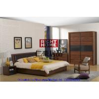 Best 2016 New Nordic Design Furniture by Leather Upholstered lift storage bed with Sliding door Wardrobe and Drawer Chest wholesale