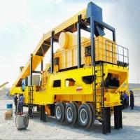 Best Rubber - Tyred Mobile Crushing Plant / Vertical Shaft Impact Crusher Trailer Frame wholesale