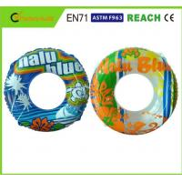 Best Machine Print Swimming Float Inflatable Pool Rings For Adults 0.25mm Thickness wholesale