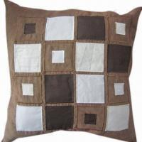 Best Good-quality Mock Suede Applique Embroidery Cushion Cover wholesale