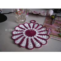 Best Multi - Petals Shape Crochet Glass Coasters Handmade Acrylic Crochet Cup Mat wholesale