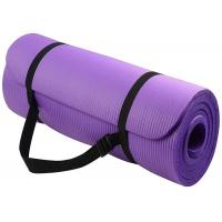China High Density Yoga Exercise Equipment Anti - Tear NBR Yoga Mat With Carrying Strap on sale