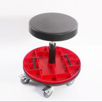 Best Car Repairing Worker Ergonomic Work Chair PU Leather Seat With Round Tools Box wholesale