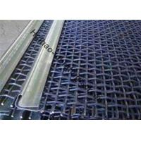 High Carbon Steel Crimped Woven Vibrating Screen With Hooks For Mining Industry