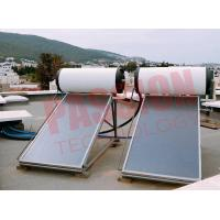 Best 150L 300L Pressurized Flat Plate Solar Water Heater With White Tank Copper Sheet wholesale
