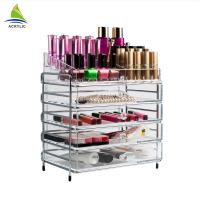 Best Elegant Makeup Storage 4 Drawer Storage Box Clear Acrylic Tiers Display Shelf wholesale