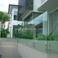 Best Customized Glass Decking Standoff Railing with Stainless Steel Handrail wholesale