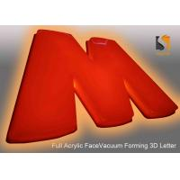 Best 78cm Height Plastic Commercial Building Sign Letter With Vacumed 5cm Flat Shape Face wholesale