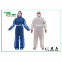 Hooded Disposable Protective Coverall With Elastic Wrist / Ankle / Waist