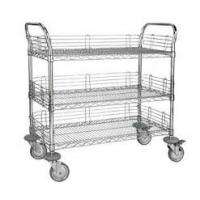 Best 3 Tier Electrostatic Discharge Chrome Wire Shelving Trolley For ESD Industry wholesale