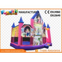 Best Pink or White Commercial Inflatable Bouncy Castle / Inflatable Jumping Bouncer wholesale
