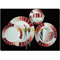 China Porcelain 16 Round Piece Dining Set Tableware Dinnerware Set Restaurant For Family on sale