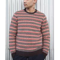 China 100 % Lambswool Jacquard Knit Sweater Fair Isle Floating For Male Striped on sale