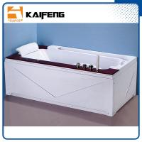 Best Luxury Single Jacuzzi Tub Air Jet Bathtub With Oak Wood Bead Computer Controller wholesale