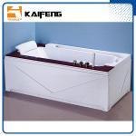 Best Luxury Single Jacuzzi Tub Air Jet Bathtub With Oak Wood Bead Computer Controller wholesale