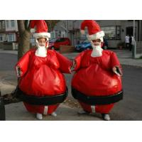 Best Christmas Santa Sumo Suits , Blow Up Sumo Suit For Kids / Adults Xmas Play wholesale
